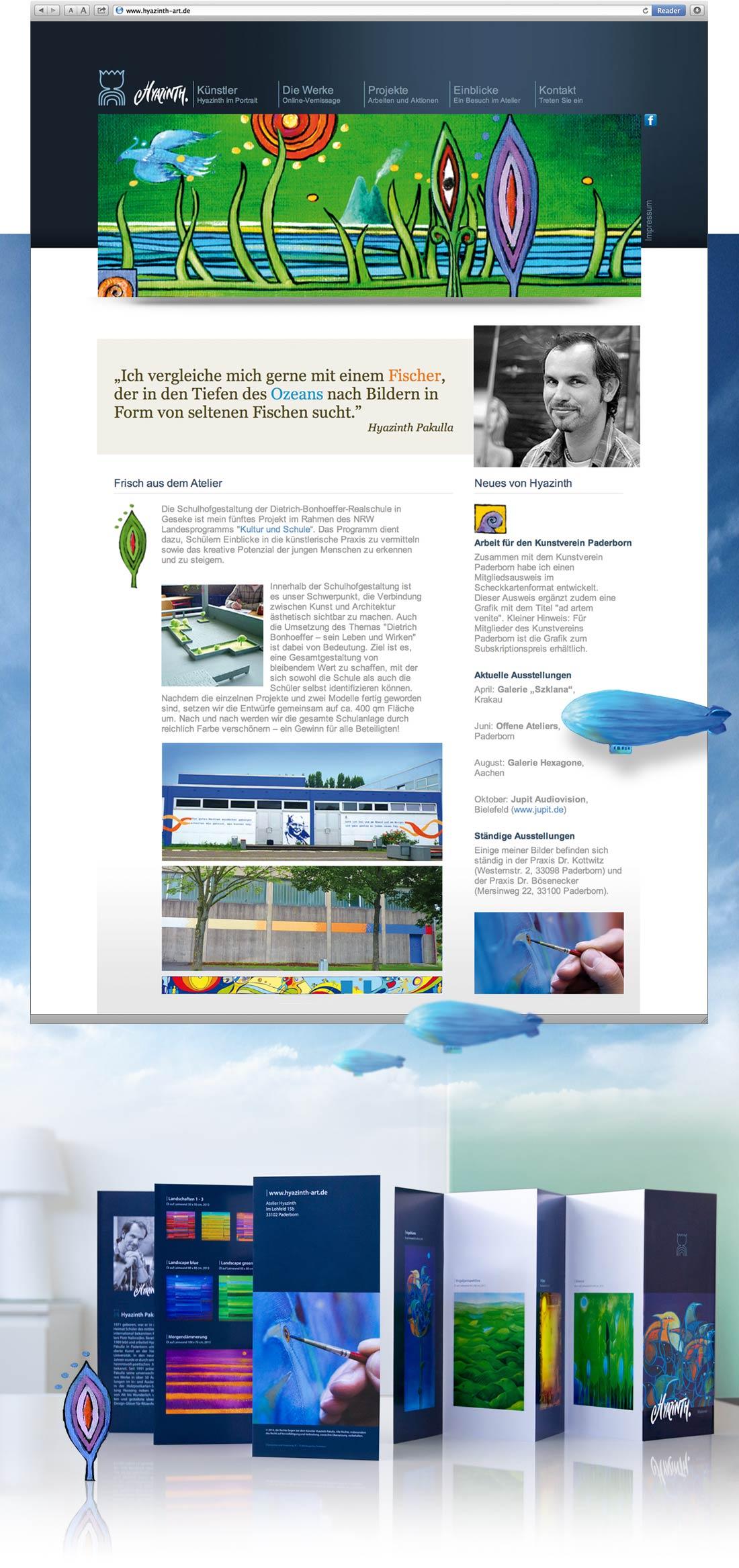 Webdesign von www.hyazinth-art.de