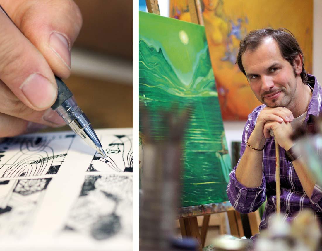 Detail und Porträt von Hyazinth Pakulla