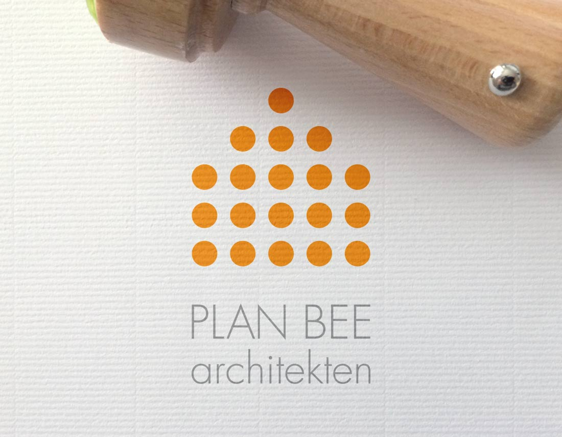 Paderborner Architekten-Logo als zentrales Element des Corporate Designs.