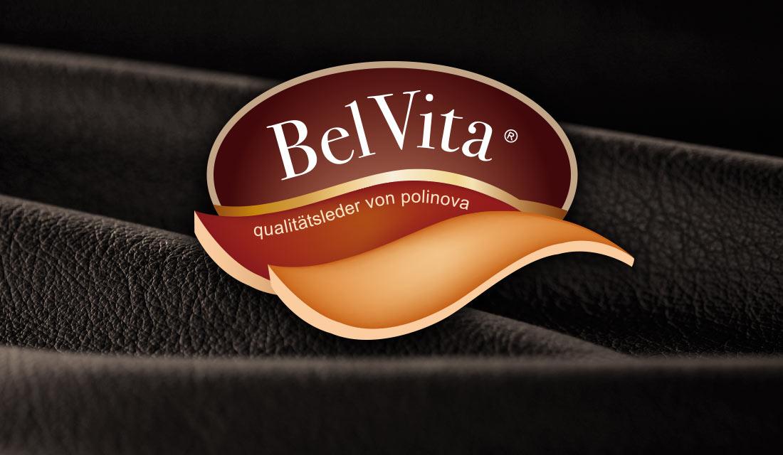 Logo-Design für die Ledermarke BelVita von Polinova.