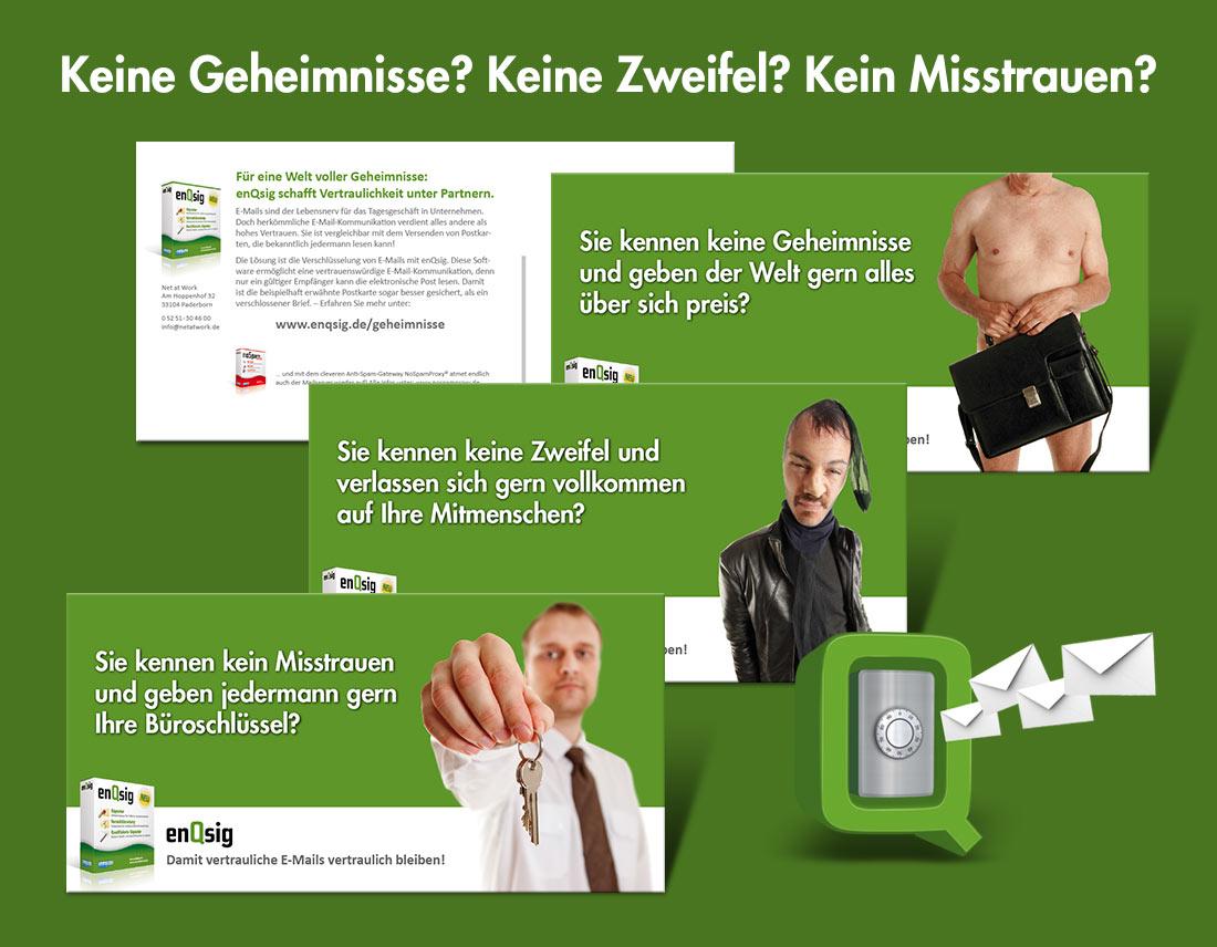 Gestaltung einer Mailing-Aktion für ein Software-Produkt