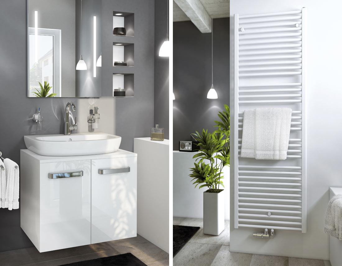 Rendering eines renovierten Altbau-Badezimmers