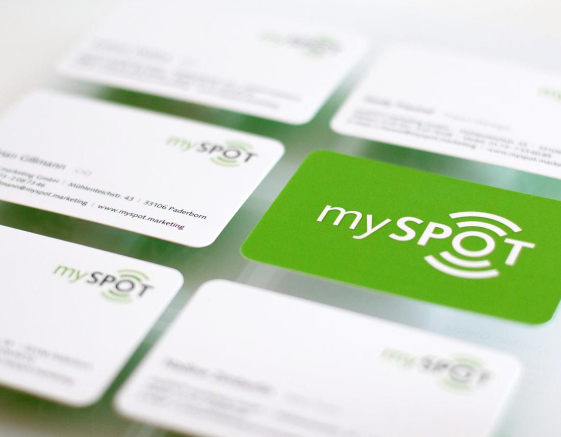 Visitenkarten für mySPOT Mitarbeiter