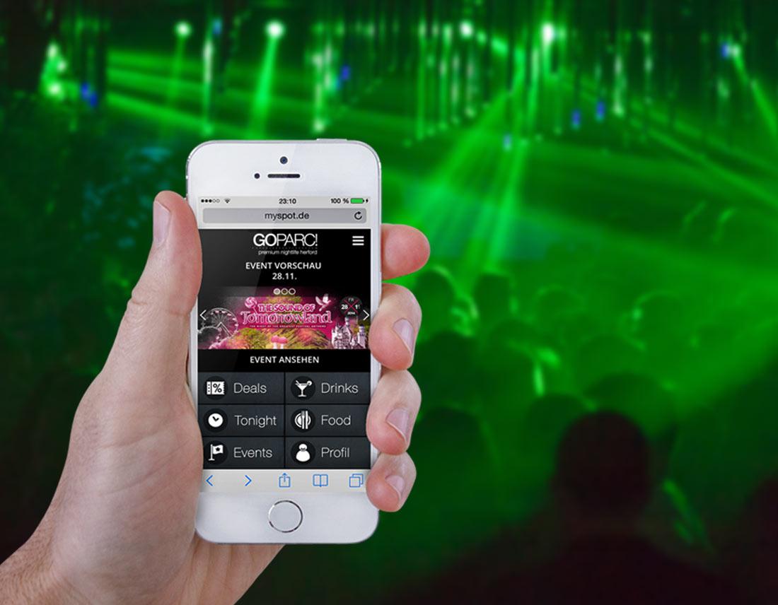 Web-App-Design auf dem Smartphone