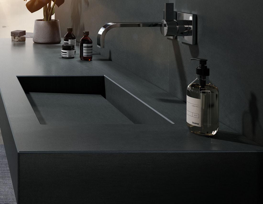 Close-up Waschtisch als 3D-Visualisierung