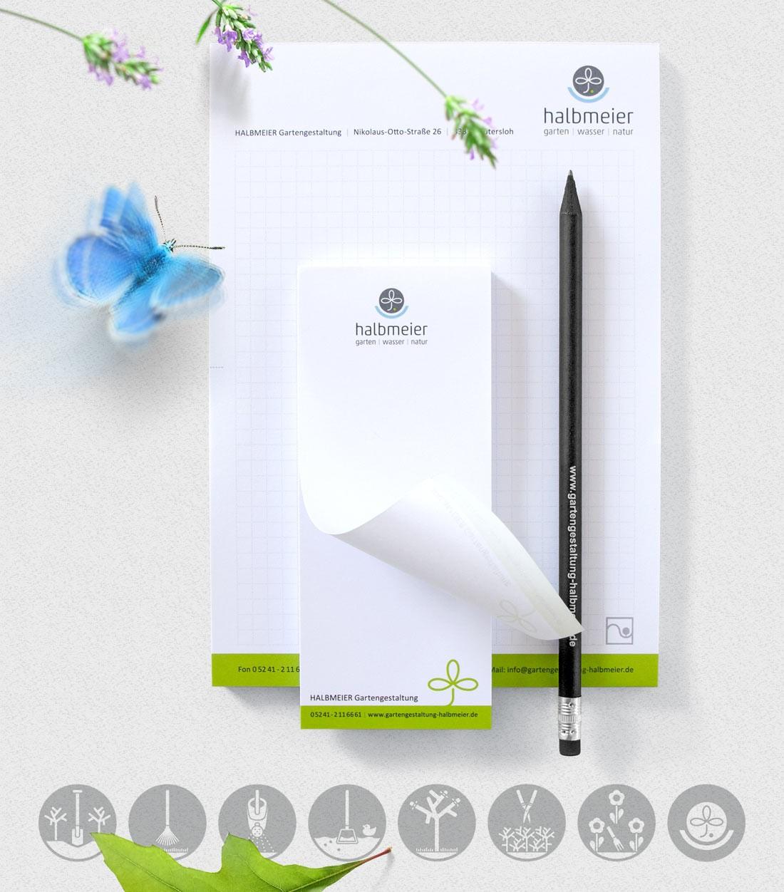 Schreib-Block auf Grundlage des Design-Manuals