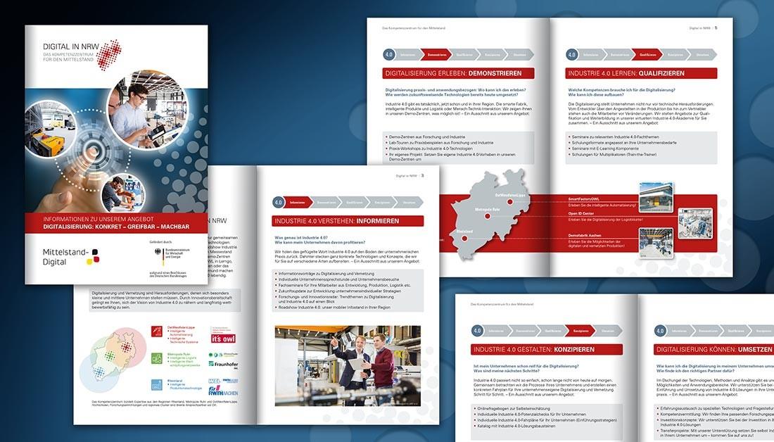 Umsetzung und Druckabwicklung von Prospektmaterial