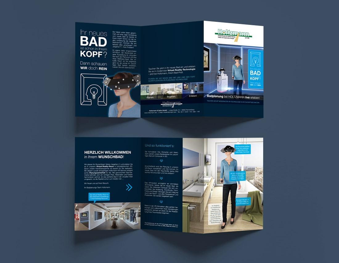 Design für Info-Prospekt / Flyer