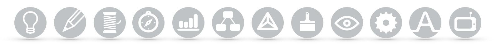 Kompetenzen-Icons der TE + TE Werbeagentur
