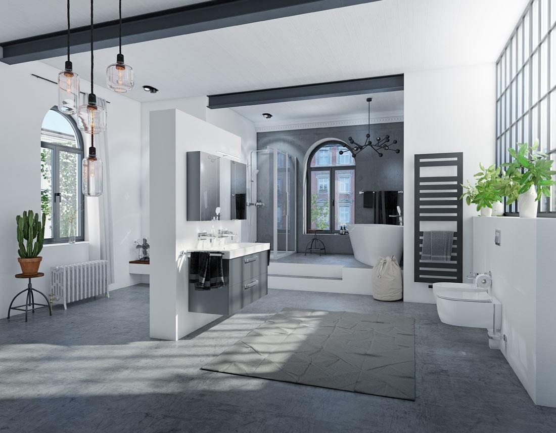 Industry-Loft-Style im Badezimmer