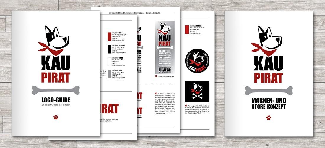 Logo-Guide sowie Marken- und Store-Konzept