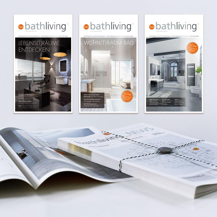 Magazin-Ausgaben und Info-Zeitung