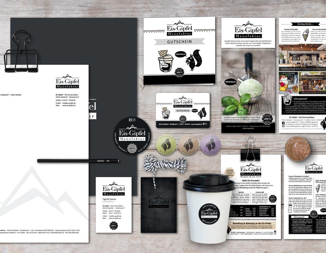 Geschäftsausstattung, Konzept und Grafik