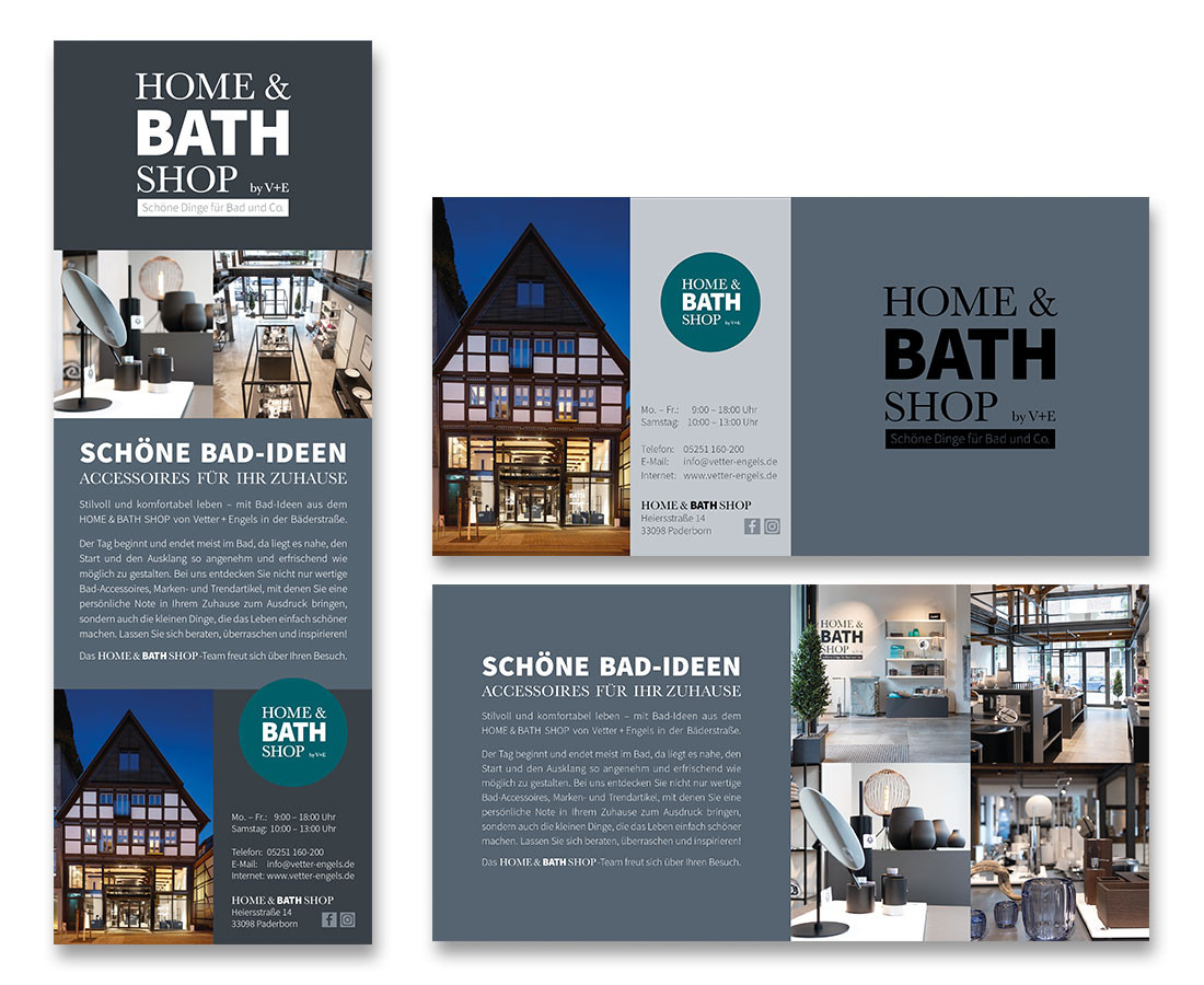 Printmedien für den HOME & BATH SHOP in Paderborn