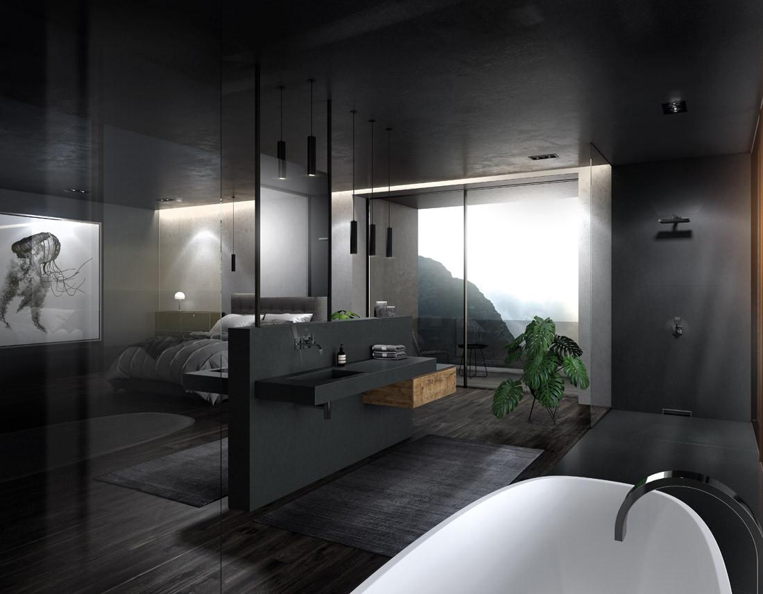 Loft-Interior-Design 3D Rendering