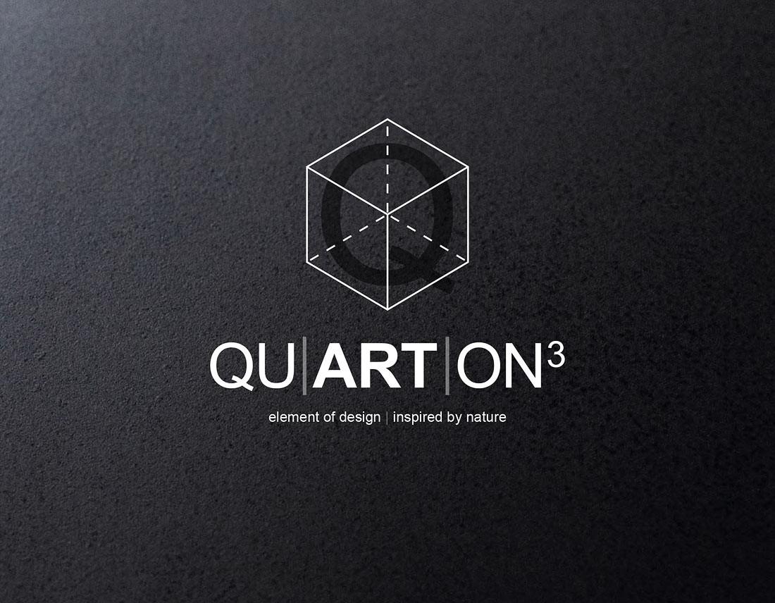 Bildelement und Claim zum Logo QUARTON