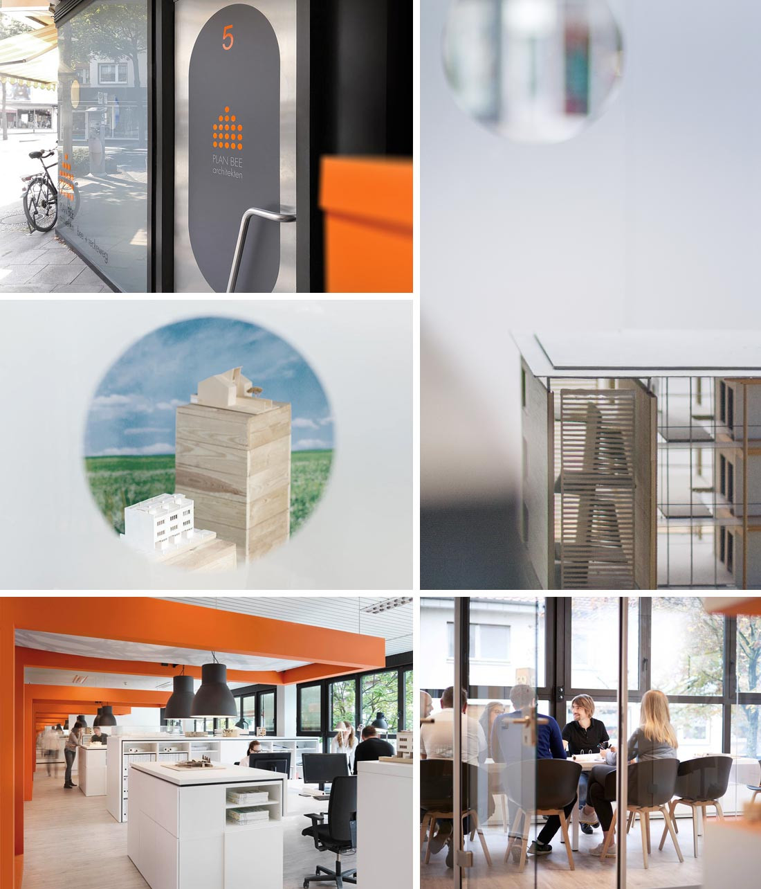 Eingang und Empfang im Architekturbüro