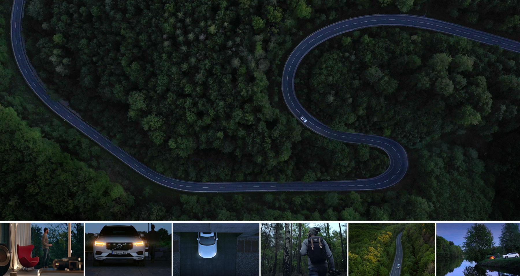 Outdoor-Filmaufnahmen für Autohaus-Werbespot